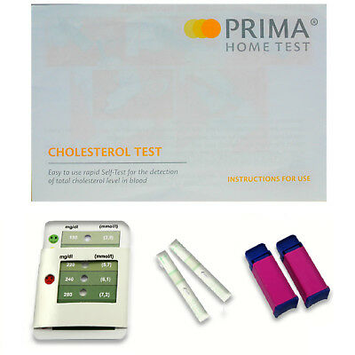 CHOLESTEROL Home Tests/Testing/Test Kits - 3 Min Results - CE Approved - 2 Tests