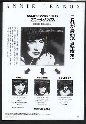 1993 ANNIE LENNOX Cold Unplugged live JAPAN PRINT AD