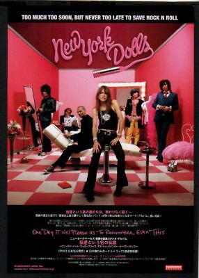 '06 NEW YORK DOLLS One Day It Will Please Us JAPAN AD