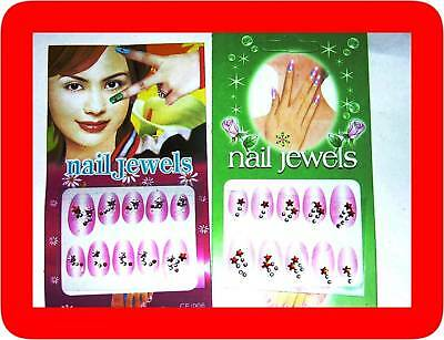 50 packs nail jewellery + rhinestones,stickers,3d,lot