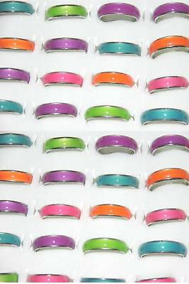 100 Rings Glow In Dark Band Lot Wholesale Girls Mixed Close Sale