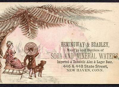 Hemingway & Bradly Soda Mineral Water Beer New Haven CT