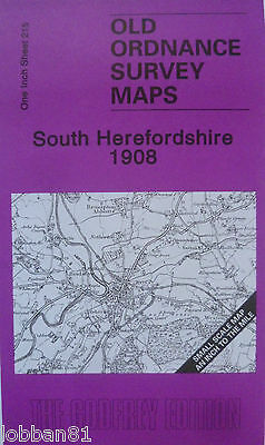 Old Ordnance Survey Map  South Herefordshire  & Map Kilpeck 1908 Sheet 215 New