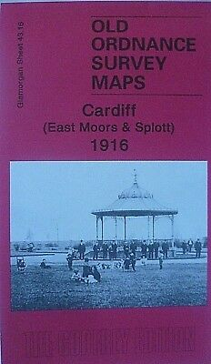 OLD ORDNANCE SURVEY MAPS CARDIFF (East Moors & Splott) GLAMORGAN  1916 S43.16