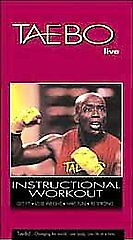Tae Bo Live! (VHS, 2000,)   INSTRUCTIONAL WORKOUT