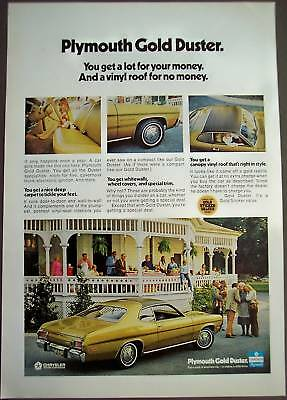 1973 Plymouth Gold Duster 2-door Car vintage ad