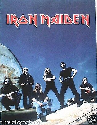 """IRON MAIDEN """"ED HUNTER"""" 2-SIDED U.S. PROMO POSTER -Group On Old Airplane & Cover"""