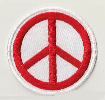 Peace & Love patch écusson patche rouge Paix Amour brodé