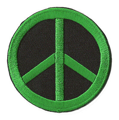 Patch brodé écusson thermocollant patche Paix Peace & Love badge