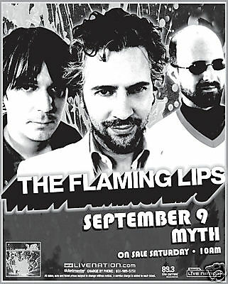 The Flaming Lips 2007 Minneapolis Concert Tour Poster