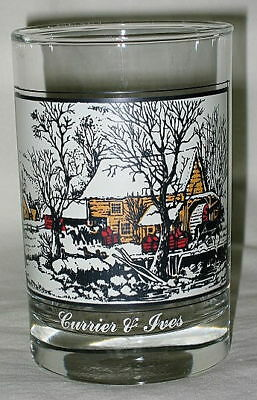 Arby's Currier & Ives Frozen Up Design 12-oz Glass
