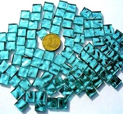 100 Pastel/Bluegreen 1cm x 1cm Mosaic MIRROR Tiles crafts