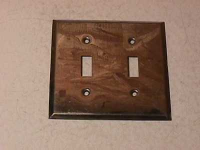 Old Chrome Plated Double Switch Plate