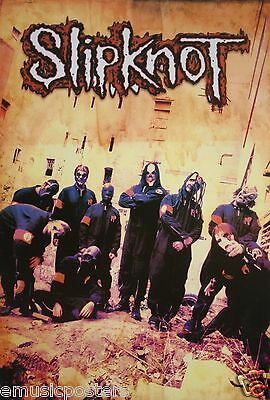 "SLIPKNOT ""GROUP STANDING IN YELLOW ROOM"" POSTER FROM ASIA - Heavy Metal Music"