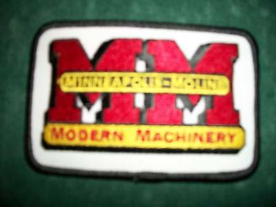 Minneapolis-Moline, Iron On Embroidered Cloth Patch,