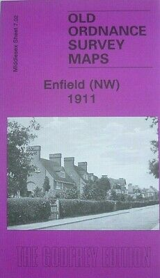 OLD ORDNANCE SURVEY  MAPS ENFIELD NW MIDDLESEX  1911 GODFREY EDITION Offer