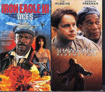 Iron Eagle 3: Aces (VHS) & Shawshank Redemption (VHS); Action & Adventure