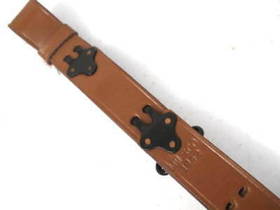 WWII US ARMY M1907 Leather Sling for M1 Garand Rifle - Dated 1942 - Reproduction