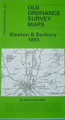 Old Ordnance Survey Map Kineton & Banbury 1893 & Plan Of Kineton Godfrey Edt