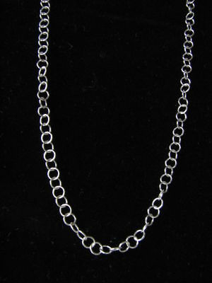 """10 X Sterling Silver 3mm Cable Link Chain Necklaces 16"""""""