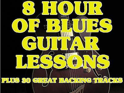 8 Hrs. of Blues Guitar Lessons on 1 DVD ROM Video +TRAX Play Slide & SURPRISES!