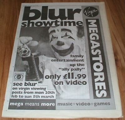 Blur-1995 poster size press advert