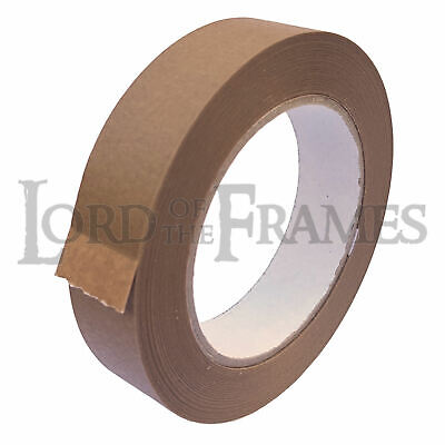 25mm x 50m Eco15 Brown Self Adhesive Backing Tape Picture Framing Canvas Craft