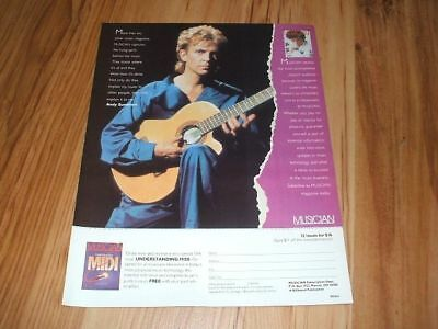 The Police(Andy Summers)-1986 magazine advert