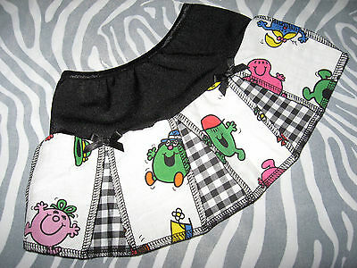 NEW COOL Baby Girls Black White Pink Yellow Check Mr Men Skirt Gift Party Rock