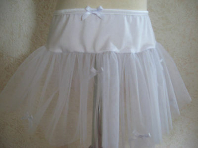 Girls All White Tutu,bows Dance Skirt-Age 3-6,Rock,Party,Fairy,gift,Fancy Dress