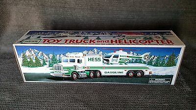 Hess Toy Truck And Helocopter, 1995, Nib