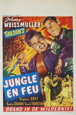 SWAMP FIRE 1946 Belgian 14x22 JOHNNY WEISSMULLER