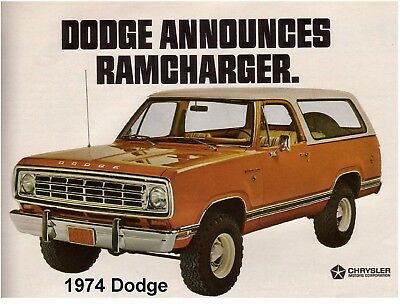 1974 Dodge Ram Charger Auto Refrigerator / Tool Box / Magnet