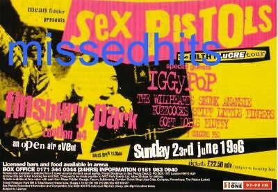 Sex pistols-1996 magazine advert