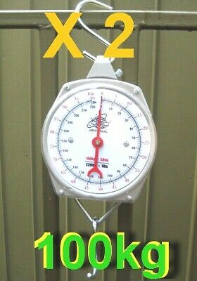 2 Units of Brand New Hanging Metal Scale 100 kg N
