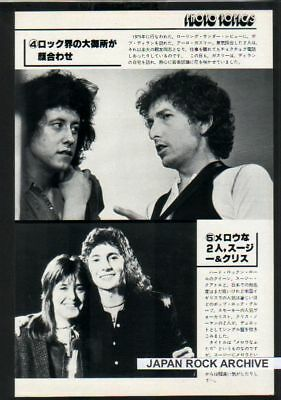 1979 BOB DYLAN SUZI QUATRO SMOKIE Chris JAPAN mag PHOTO