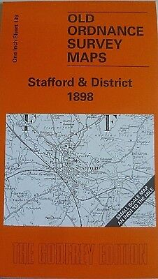 OLD ORDNANCE SURVEY MAPS STAFFORD & DISTRICT 1898 & MAP GNOSALL Godfrey Edition