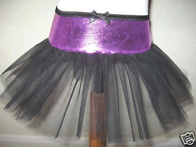 Mini Goth,Rock,Emo Black,Pink Xmas Tutu Skirt-18-24