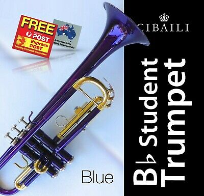 Black Bb CIBAILI Trumpet • High Quality • Brand New With Case • Great for school