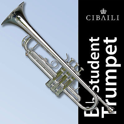 Silver-Plated Bb Cibaili Trumpet • High Quality • Brand New With Case •