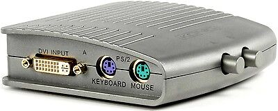New 2 Way Two Port Manual Kvm Switch For Dvi-I & 2 Ps/2