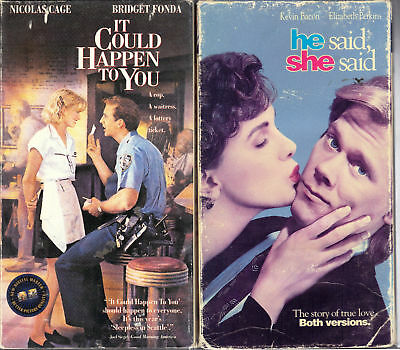 It Could Happen to You & He Said, She Said;2 Comedy VHS