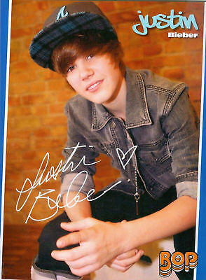 "JUSTIN BIEBER - BEIBER - 11"" x 8"" - PINUPS - POSTERS"