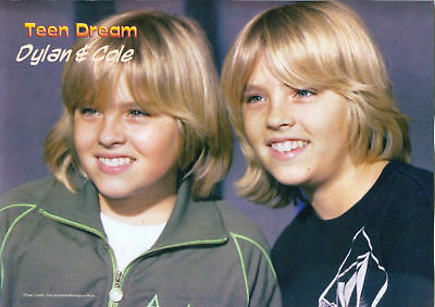 Dylan & Cole Sprouse - Zac Efron - Pinup - Poster - Blond Teen Boy Actor