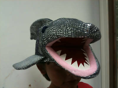 Shimmery Shark Hat - ONE SIZE-New Year/Costume/Sport