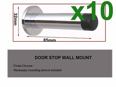 10pcs Door Stop-chrome