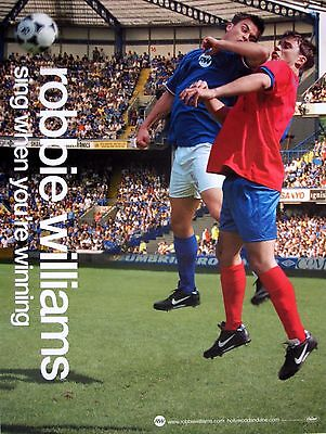 "Robbie Williams ""sing When Your Winning: England Face Paint"" U.s. Promo Poster"