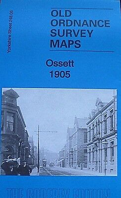OLD ORDNANCE SURVEY DETAILED MAPS OSSETT YOURKSHIRE 1905 Godfrey Edition