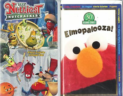 The Nuttiest Nutcracker  & Elmopalooza - 2  Animated Children & Family VHS Tapes