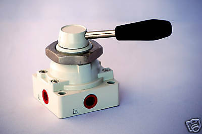 "1pc 4 / 2 Way Hand Operated Lever Air Valve 3/8"" NPT Detent MettleAir 4HV310-10"